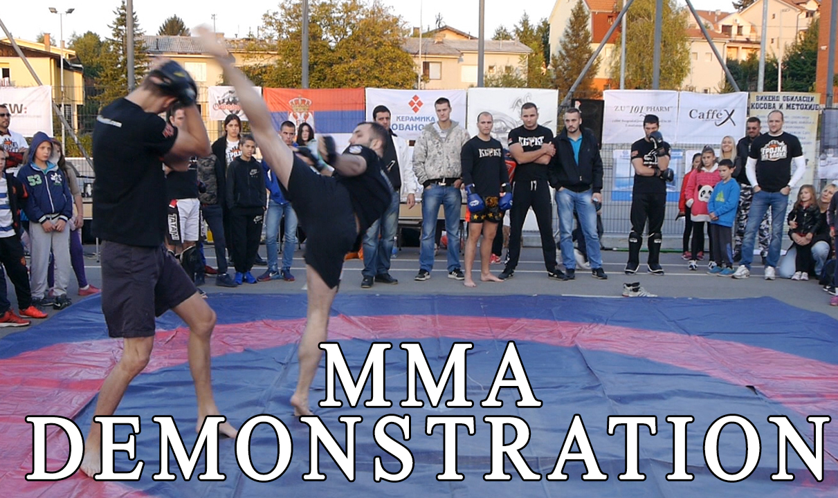 MMA demonstration – our instructors at a humanitarian event