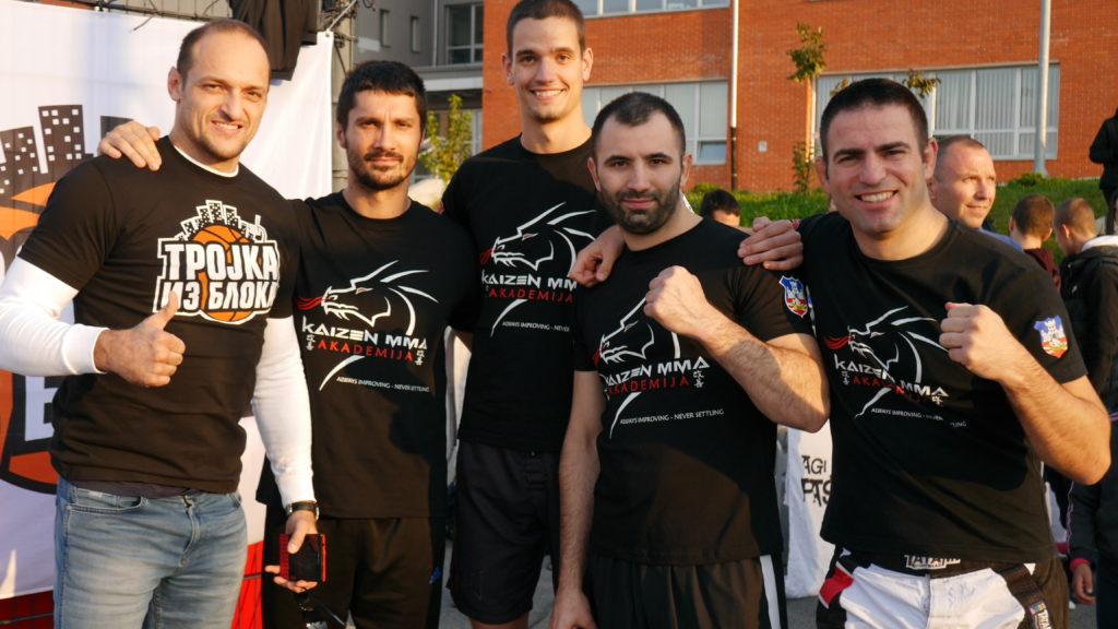 Kaizen MMA instructors with Igor Rakocevic