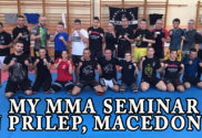 My mma seminar in Prilep, Macedonia