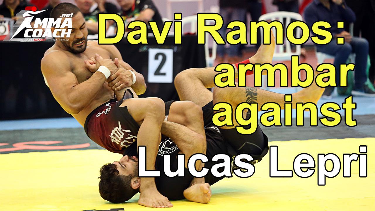 Davi Ramos shows the armbar he used against Lucas Lepri